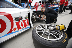 Changing the Continental Tires at the Rolex 24