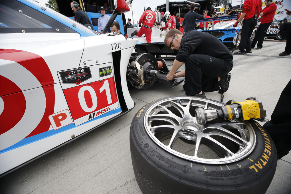 | Changing the Continental Tires at the Rolex 24