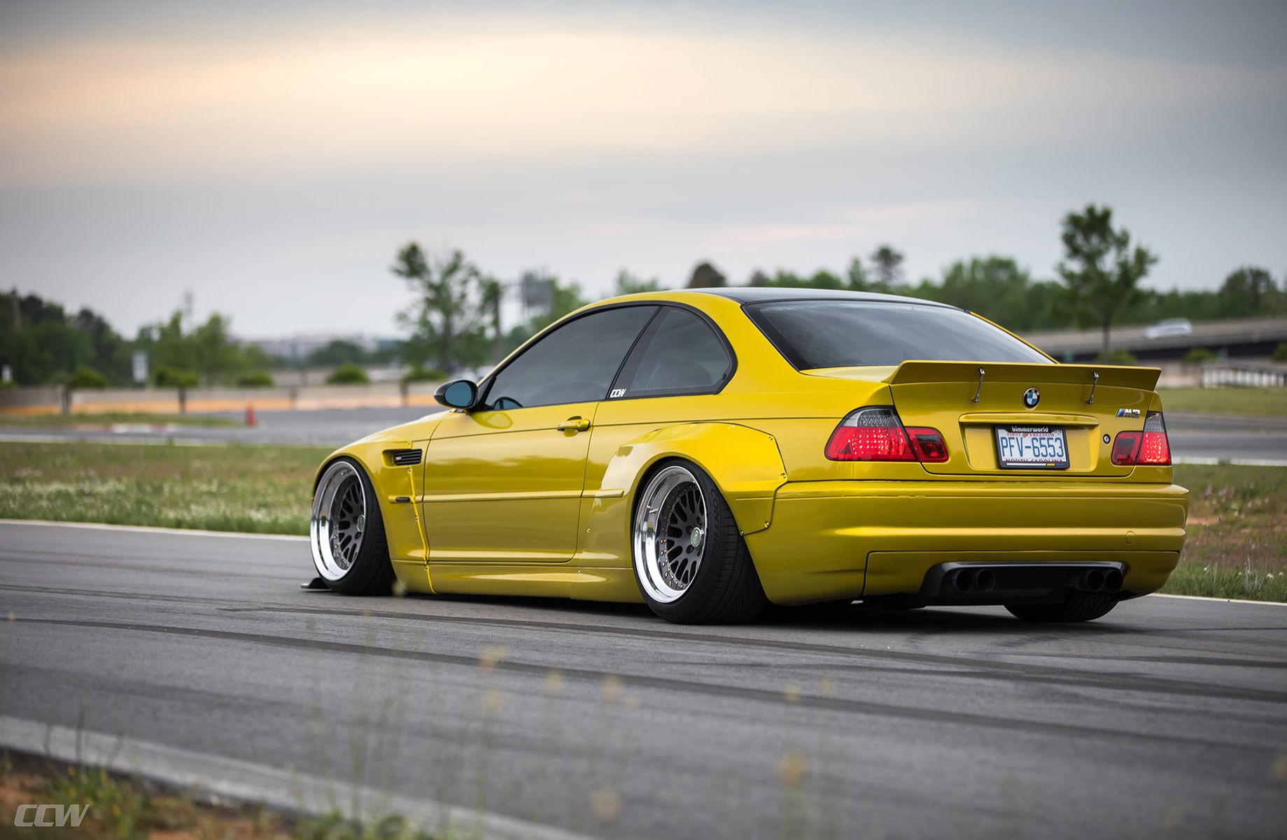 Phoenix Yellow Pandem Widebody E46 M3 Ccw Classic 3 Piece Wheels