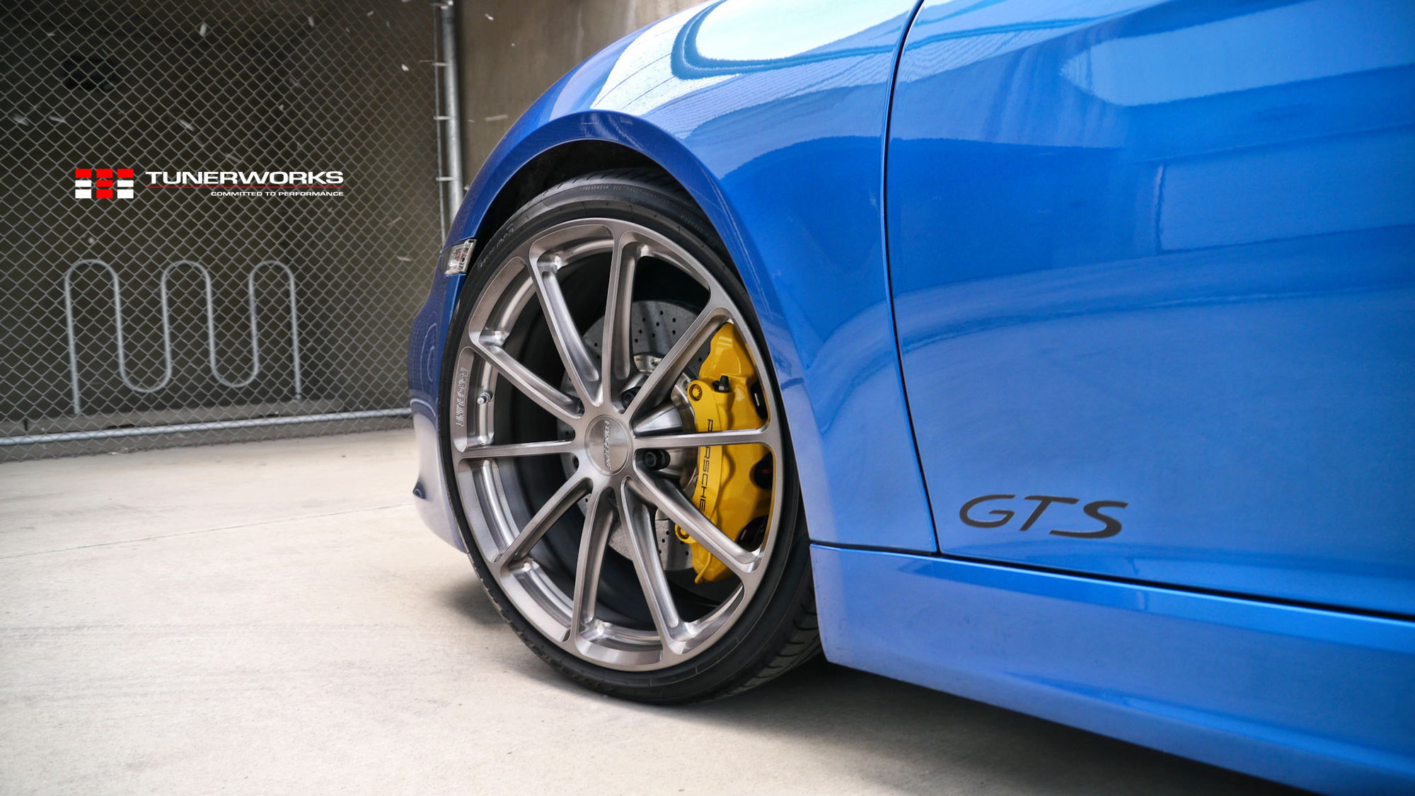2017 Porsche Cayman | Tunerworks Blue Porsche Cayman GTS on Forgeline One Piece Forged Monoblock GT1 5-Lug Wheels
