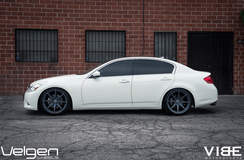 Infiniti G37 on Velgen VMB8 Wheels - Side Profile Shot