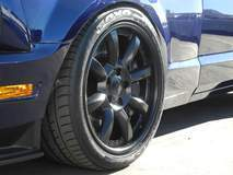 Mustang Evolution on Grip Equipped Laguna Wheels