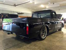 Steve & Danielle Locklin 2016 Goodguys Truck of the Year Finalist with 1970 Chevy C10 on Forgeline RB3C Wheels