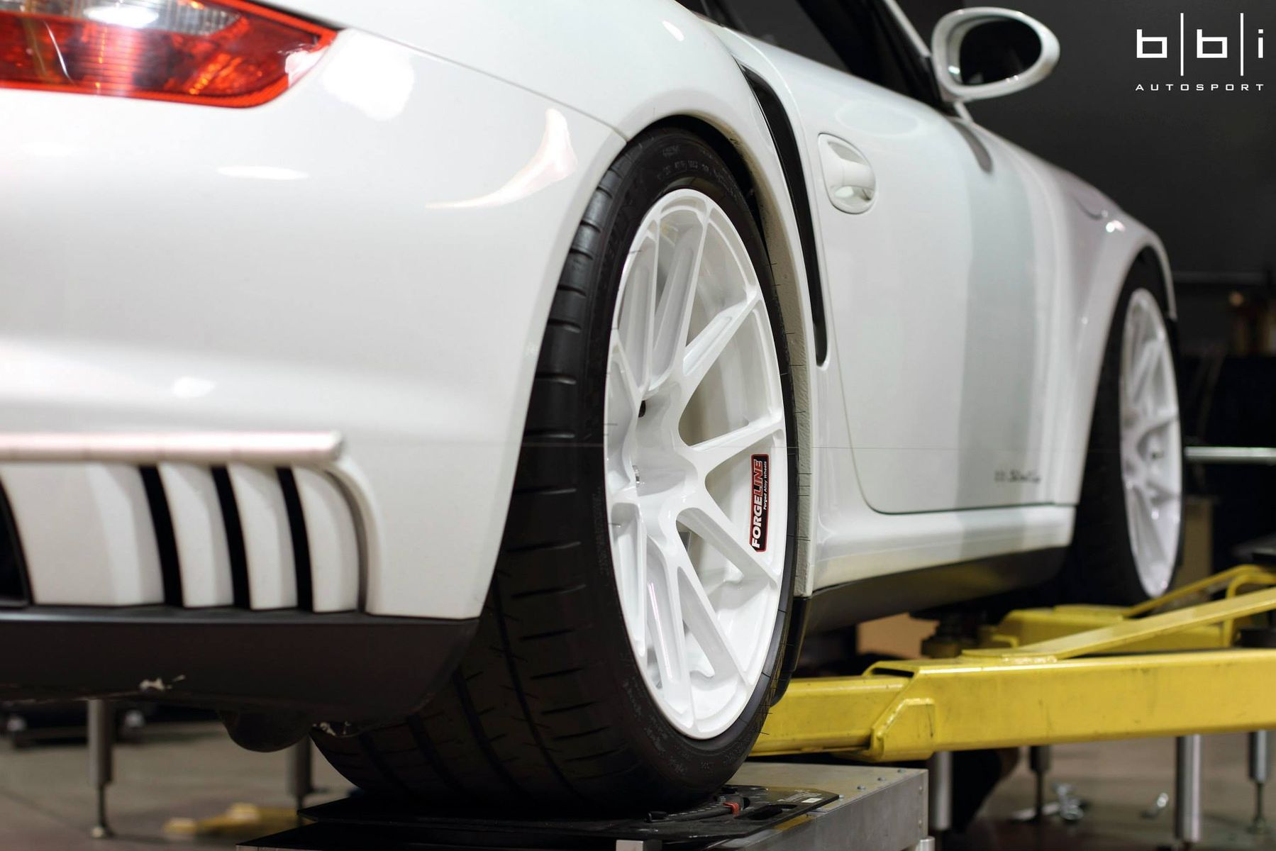 Porsche 997 | Project Swan Porsche on Forgeline GA1R Open Lug Wheels