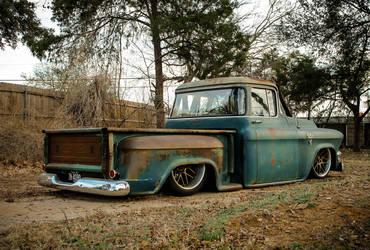 "1955 GMC    JP's Hales Speed Shop ""Boomer"" 1955 GMC Truck on Forgeline DE3C Wheels"