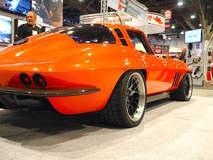 """Greg Thurmond's """"SCAR"""" '65 Corvette on Forgeline DE3C Concave Wheels - Passenger Side Shot"""