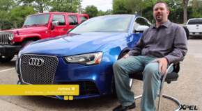 James M and his 2014 Audi RS5 that was protected with XPEL ULTIMATE