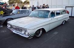 "Tom Busack's ""Family Hauler"" 1961 Chevrolet Parkwood Wagon on Forgeline SE3C Concave Wheels"