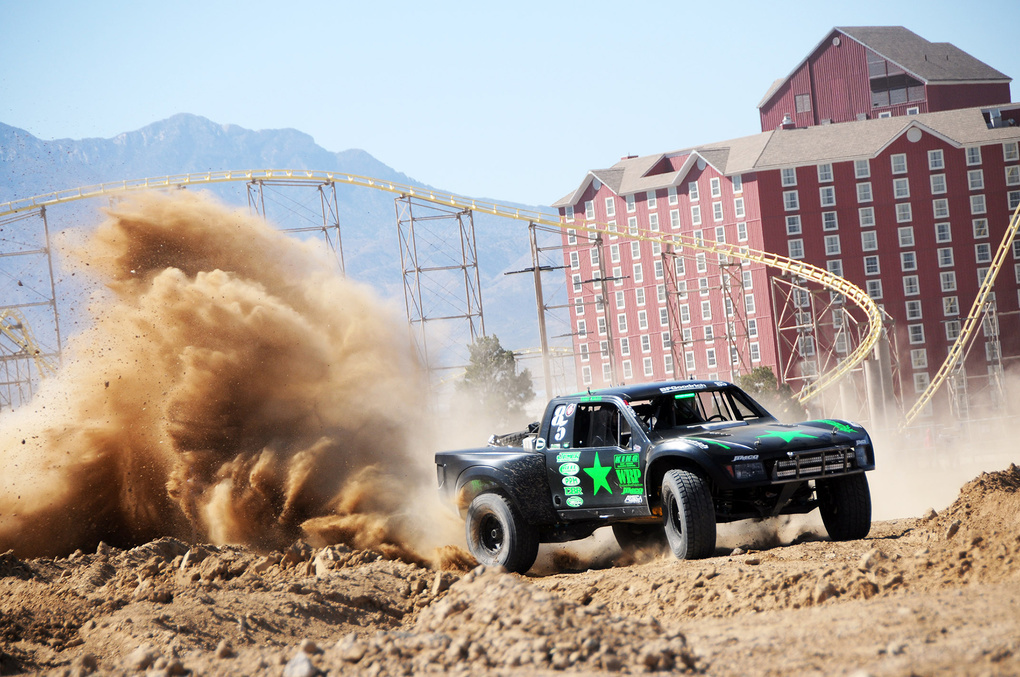 | Justin Davis Getting it in the Gree Army Motorsports Truck!