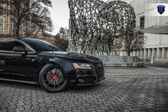 Black Audi S5 - Right Front Wheel