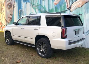 "2018 GMC Yukon Denali | Lawson Aschenbach's GMC Yukon ""Daddy Wagon"" on Forgeline One Piece Forged Monoblock VX1-Truck Wheels"