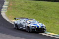 Lawson Aschenbach Double Podium at VIR in the #10 Black Dog Speed Shop Camaro GT4.R on Forgeline GS1R Wheels