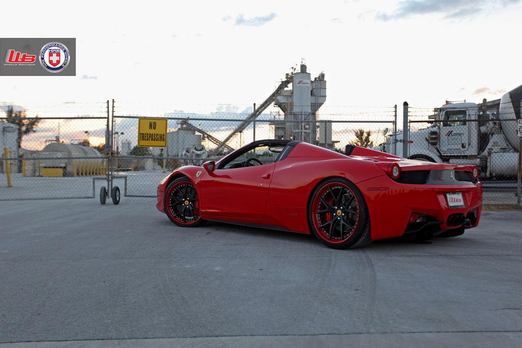 Ferrari 458 Italia   Ferrari 458 Spider on HRE S101