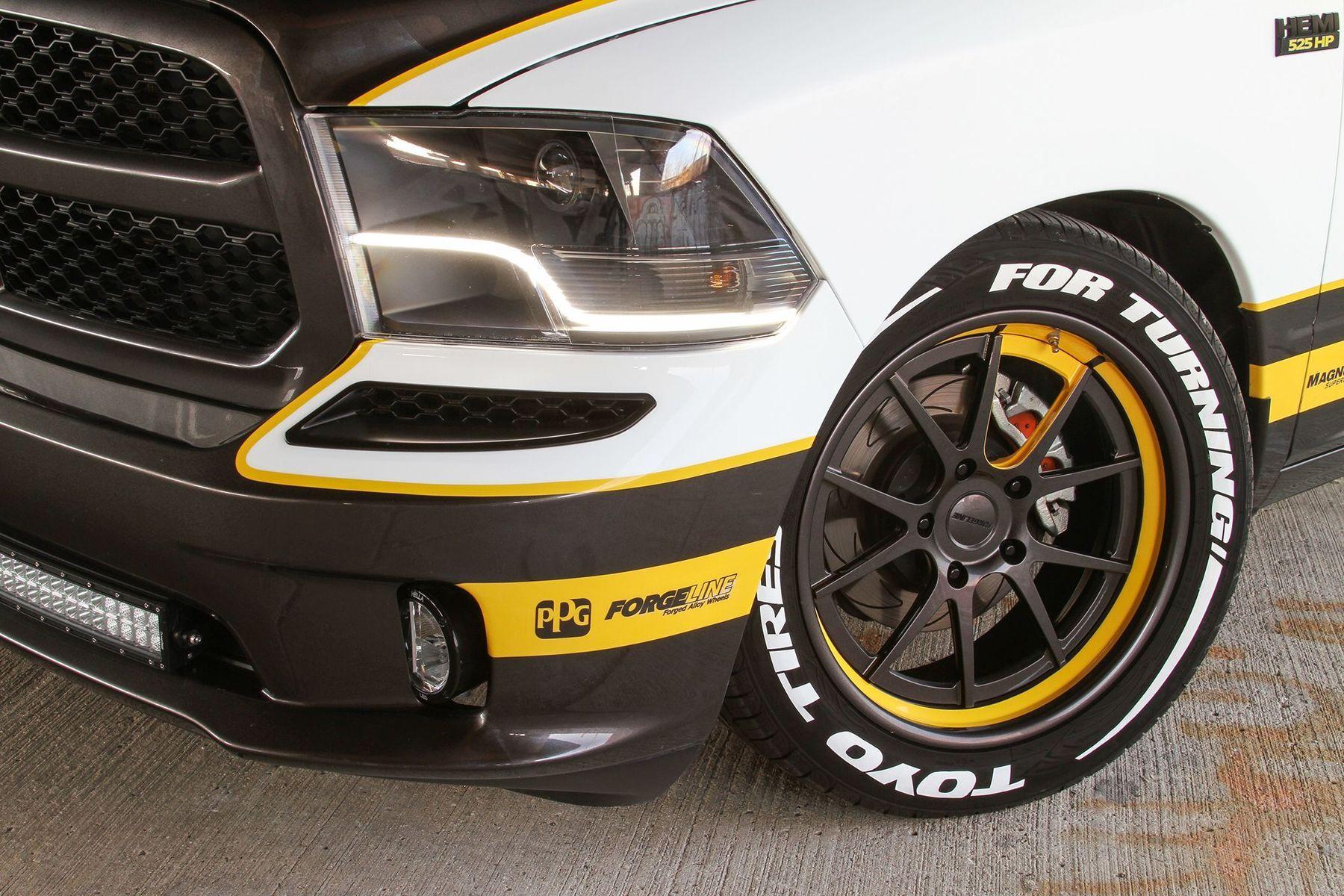 2015 Dodge Ram Pickup 1500   Pfaff Designs Supercharged Draggin Wagon Dodge Ram on Forgeline GA3C Concave Wheels