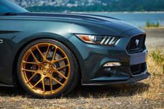 H&R Springs Mustang on Forgeline SE1 Wheels - Passenger Wheel