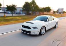 Kat Hagen's 2012 Ford Mustang Shelby GT500 on Forgeline One Piece Forged Monoblock SC1 Wheels