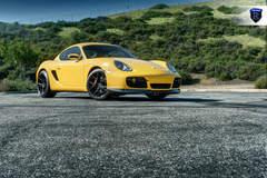 Yellow Porsche Boxster - Passenger Side Shot