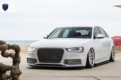 White Audi A4 - Grille