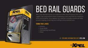 XPEL Bed Rail Guard Clear - DIY