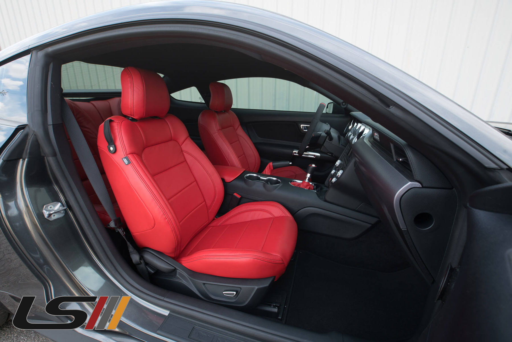 Astonishing 2016 Mustang Gt Leather Interior By Leatherseats Com Squirreltailoven Fun Painted Chair Ideas Images Squirreltailovenorg