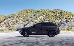 "Jeep Grand Cherokee on 22"" Vorsteiner V-FF 109 Gloss Black Wheels - Side Profile"