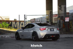 "FR-S on 18"" Klutch ML1 Wheels - Rear Angled Shot"