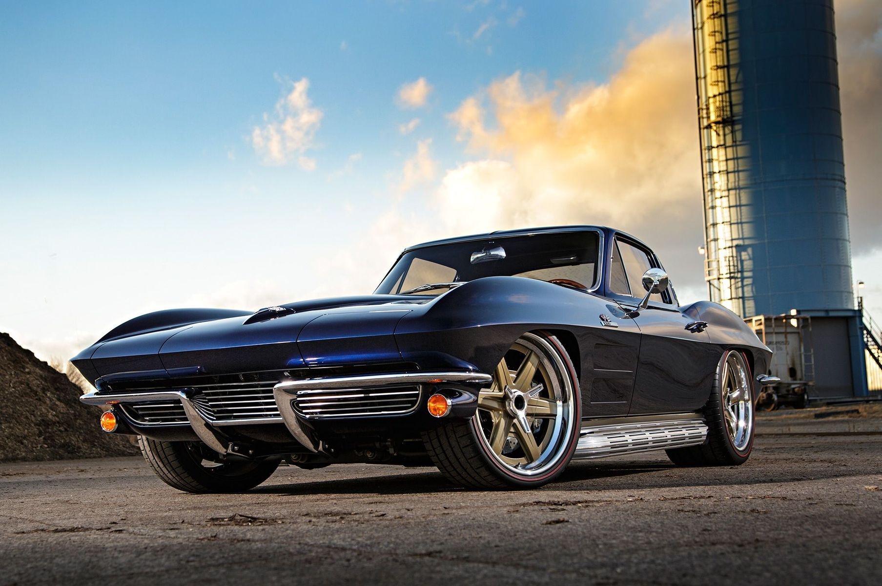 1964 Chevrolet Corvette | Barry B's Roadster Shop '64 Corvette Stingray on Center Locking Forgeline RS6 Wheels