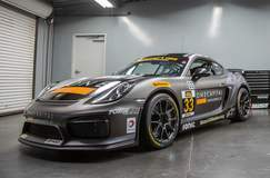 CJ Wilson Racing's GS Class Porsche Cayman Clubsport on Forgeline One PIece Forged Monoblock GS1R Wheels - Race Ready