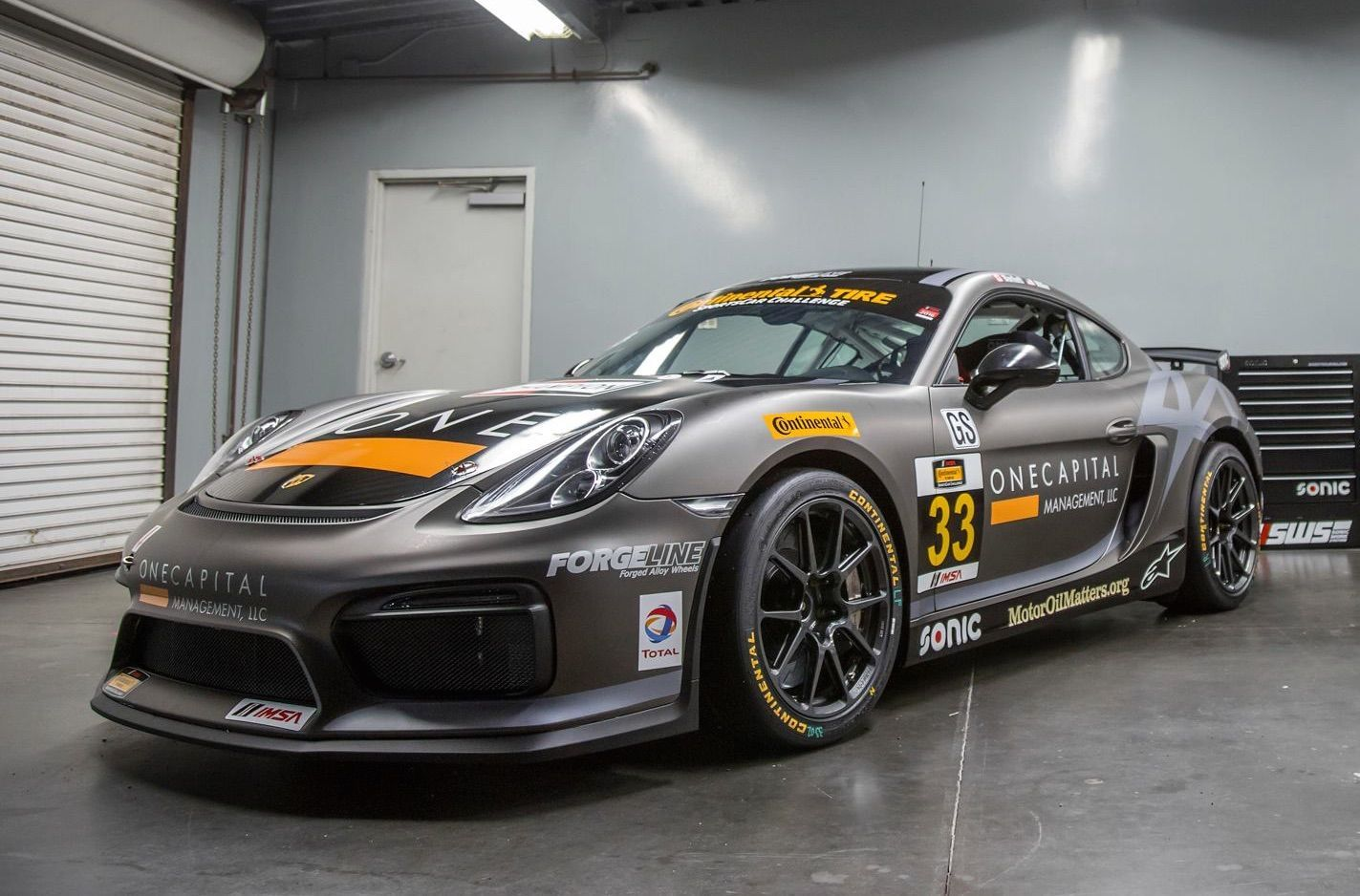 2016 Porsche Cayman | CJ Wilson Racing's GS Class Porsche Cayman Clubsport on Forgeline One PIece Forged Monoblock GS1R Wheels - Race Ready