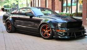 Alex Wright's Roush 427R Ford Mustang on Forgeline GF3P Wheels