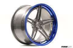 Forgeline SC3C-SL Concave Stepped Lip with Transparent Smoke Center and Transparent Blue Outer