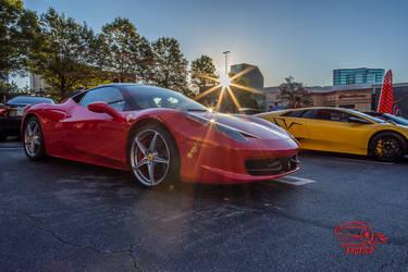 Ferrari 458 at Sunrise