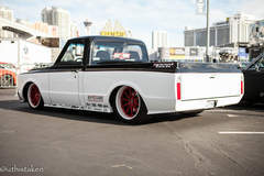 "Speedtech's ""Evil Oreo"" Chevy C-10 Pickup Truck on Forgeline GT3C Concave Wheels - Drive Side Shot"