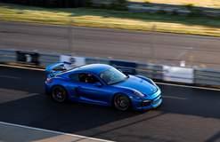 Smokies GT Blue Porsche Cayman GT4 on Forgeline One Piece Forged Monoblock GS1R Wheels