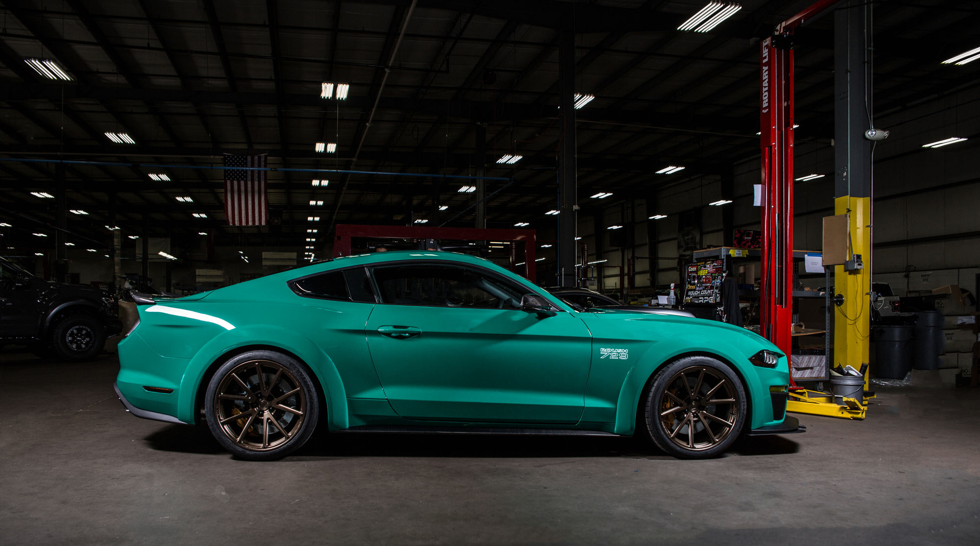 Roush 729 Widebody Mustang by Roush Performance Side Stance FordSEMA