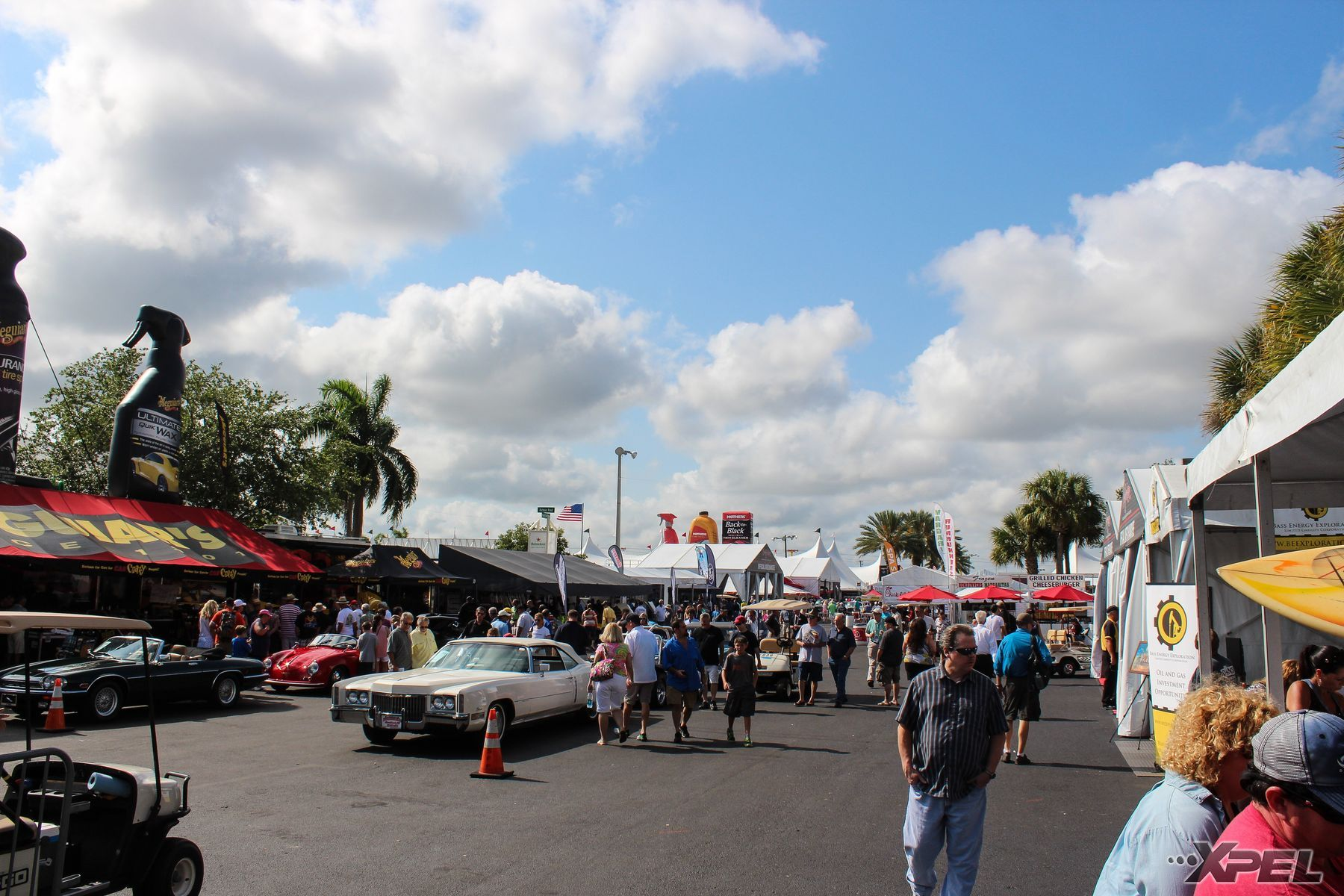 | View from our XPEL booth at West Palm Beach Barrett Jackson