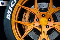 Gray Nissan GTR - Gold Spokes