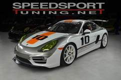 SpeedSport Tuning Porsche Cayman on Forgeline GA1R Open Lug Wheels