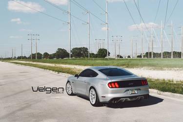 2015 Ford Mustang | 2015 Ingot Silver Mustang GT on Velgen Wheels VMB6