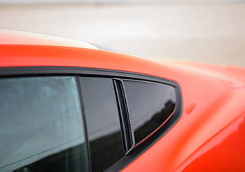 2015 Mustang ROUSH Quarter Window Scoops (Painted Black)