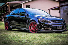Chevy SS on Forgeline GA1R Open Lug Cap Edition Wheels