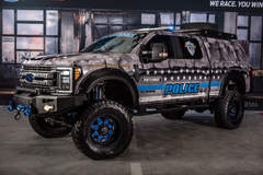 "2017 Ford F-350 Super Duty 4x4 XL Crew Cab ""MBX350 Matchbox Police"" by Skyjacker Suspensions - Garage Shot at #FordSEMA"