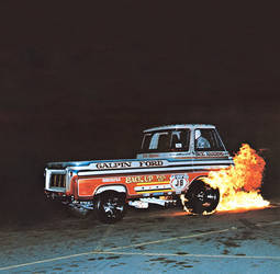 1965 Ford  | Back Up Pick up Fiery Burnout