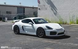 White Porsche Cayman GT4 by SP Motorsports on Forgeline One Piece Forged Monoblock GS1R Wheels