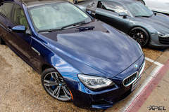 Blue 2014 BMW M6 Gran Coupe