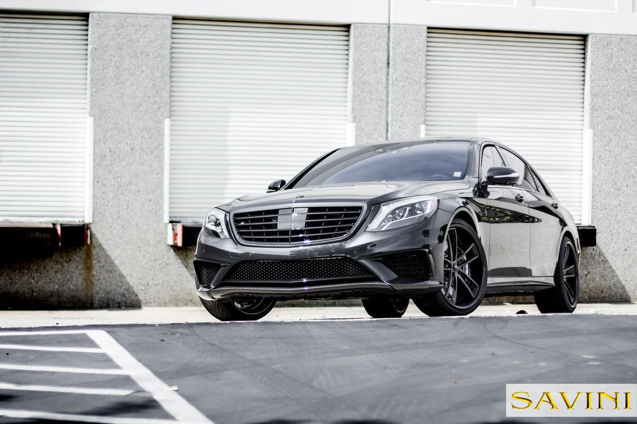 2014 Mercedes-Benz S-Class   2014 Grey Mercedes-Banz S63   Savini Wheels SV51-C