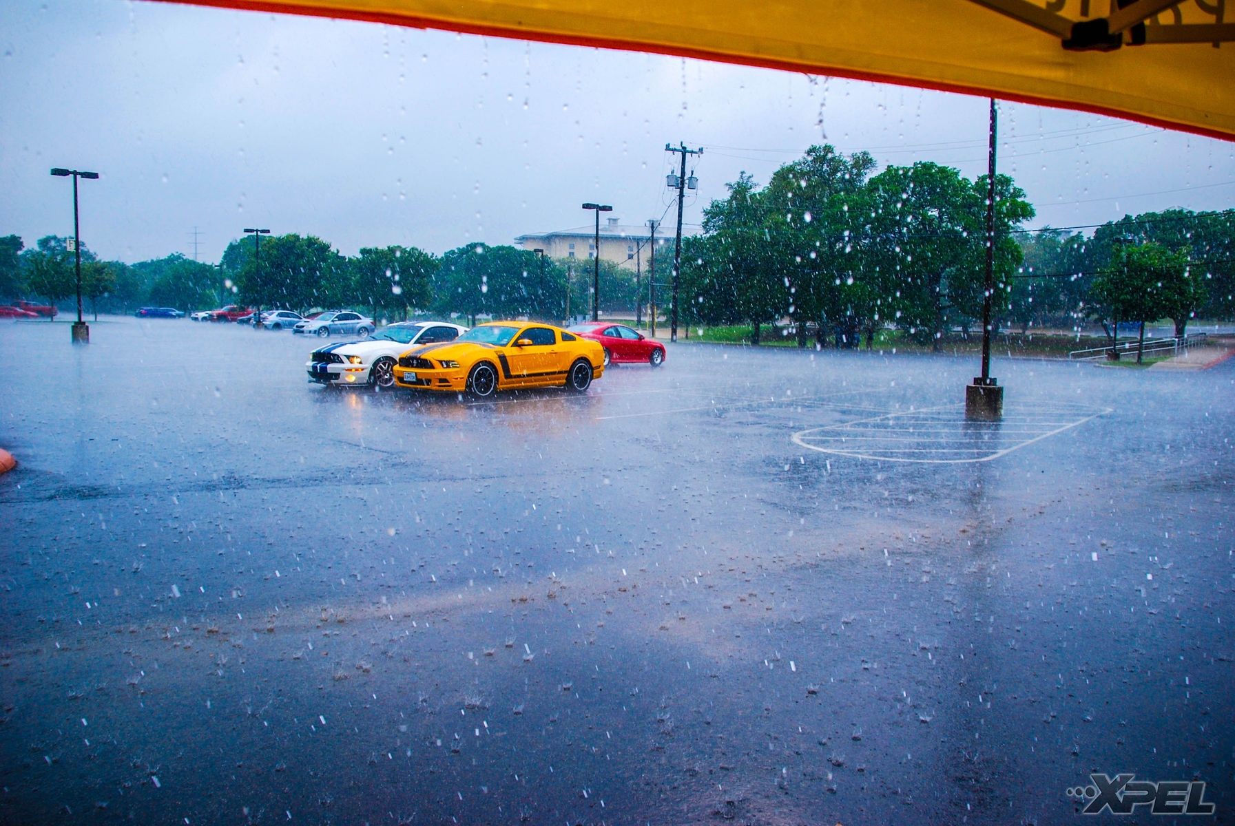 | The rain hit us hard at Cars and Coffee San Antonio!