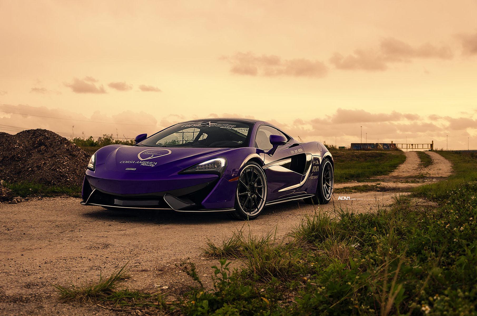 McLaren 570S | Purple McLaren 570S - ADV.1 Directional ADV10R Track Spec CS Series Wheels