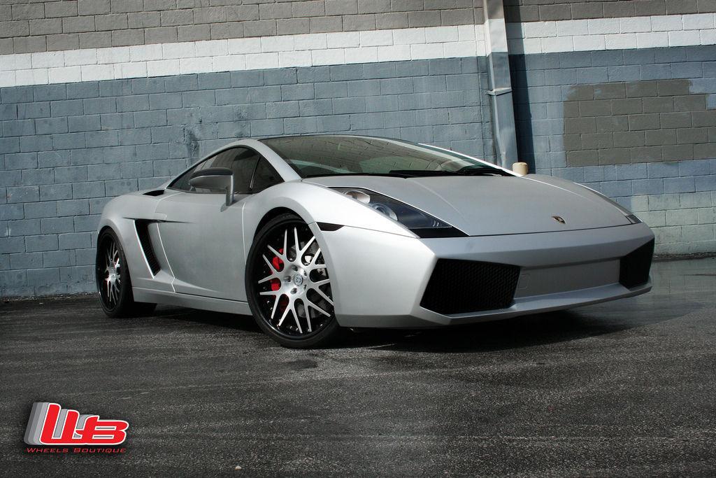 Lamborghini Gallardo | Matte Silver Gallardo on 20