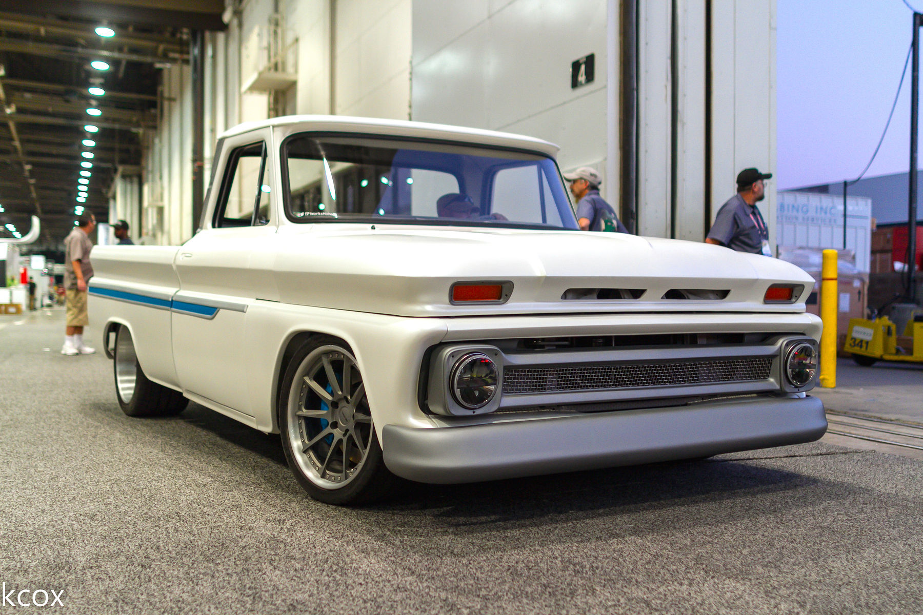 1966 Chevrolet C-10 | James Otto's C-10 Truck on Forgeline RB3C Wheels - Front View